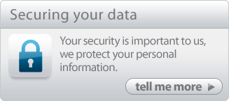 Securing your data - Your security is important to us, we protect your personal information.
